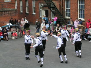 May Day celebrations in the playground