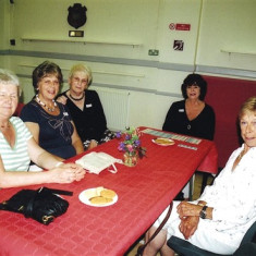 (Left to right): Mavis Lavender, June Smith, Rose Maguire, Sheila Hales, Janet Rough. | Geoff Webb