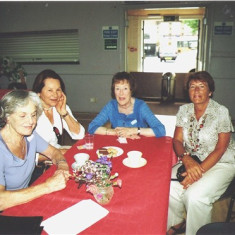 (Left to right): Jean Wilkinson, Toni Rus, Yvonne Anderson, Fay Campbell. | Geoff Webb