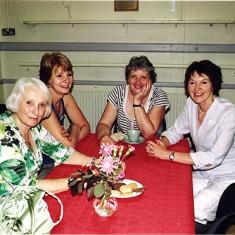 (Left to right): Annette Pryke,  ?  , Annette Smee, Vivienne Fellowes. | Geoff Webb
