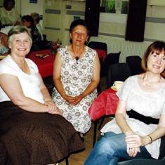 (Left to right): Christine Scrivener, Pat Hallam, Margaret Goodwin. | Geoff Webb