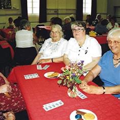 (Left to right): Gladys Austin, Peg Field, Eileen Austin, Yvonne Burnett, Marion Hodge. | Geoff Webb