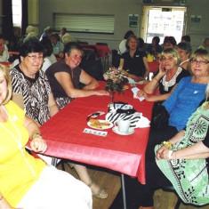 (Left to right): Pat Friar, Linda Ward, Pam Burrows, Jennifer and Gill Winch, Monica Bigham. | Geoff Webb