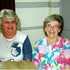 Daphne Herring (left) with her sister Valerie | Geoff Webb