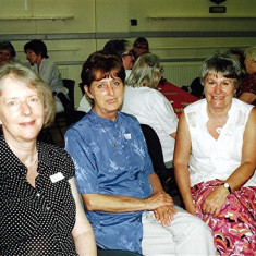 (Left to right): Jennifer Biggs, Daphne Mason, Pam Scrivener. | Geoff Webb