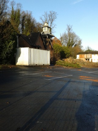 The Clock Hotel site with clock tower still visable 23 November 2012 | Susan Hall