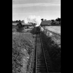 Daily coal train bound for Hemel Hempstead, near Wood End Lane, approaching Cupid Green, 1947. | © Alan J Willmott