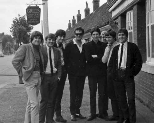 The Mark Four with Radio London DJ Tony Windsor outside The Victoria Cheshunt