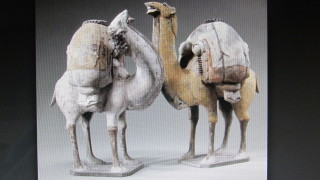Two 6th century Chinese tomb sculptures