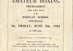 Amateur Boxing Tournament 1953