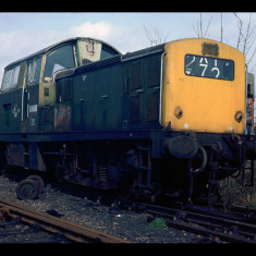 A second-hand British Rail Clayton diesel used by the Hemelite breezeblock works, Hemel Hempstead, early 1970s | © Dave Abernethy