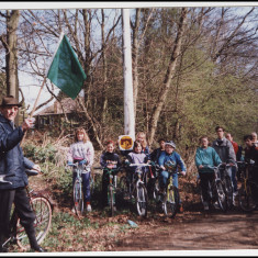 The Mayor starting a Nickey Line cycle ride, 1980s. | © unknown