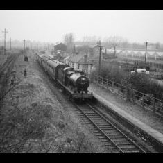 A 'special' train for railway enthusiasts at Smallford Station, near Colney Heath in 1961, ten years after the withdrawal of passenger traffic. The goods yard was still in use. | © Michael Covey-Crump