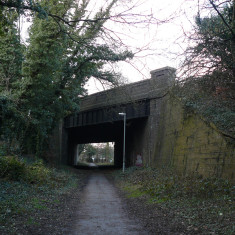 The bridge carrying Cavendish Way, Hatfield, over the line, February 2010. | Rosalyn Goulding, © St Albans Museums