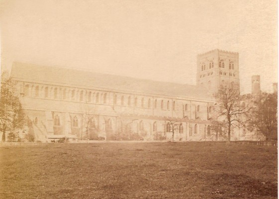 This photo shows the roof complete but without the West end taken about 1879