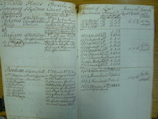 List of tenants and dates they were admitted (65810) | Herts Archives & Local Studies