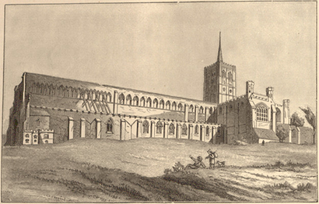Before the spire collapsed, about 1850
