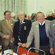 Left to right: Colin Smith, Ray Webb, George Hedges, John Hobbs, 'Snowy' Nunn | Geoff Webb