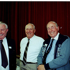 Left to right: Bill Tibbs, Dick Dalton and Frank Smith | Geoff Webb