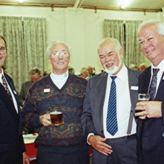 Left to right: Geoff Webb, Ted Orchard, John and Dennis Ward | Geoff Webb