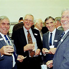 Left to right: Jim Dalton, Alan Anstee, Derek Fellowes, Ernie Young | Geoff Webb