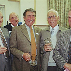 Left to right: Ken Marshall, Frank 'Pum' Smith, Ray Webb, John Marshall, Colin Smith | Geoff Webb