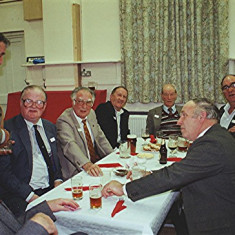 Left to rigtht: Peter 'Nib' Smith, Ray Webb, Don Gay, Bill Price, Doug Robinson, Bill Deamer, John Pidgeon (front), Maurice 'Mo' Smith, Aubrey Robinson | Geoff Webb