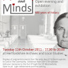 Herts and Minds. 11 October 5.30 - 8pm