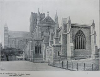 St Albans Abbey from Sumpter Yard | Hertfordshire Archives library collection