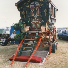 A caravan at the Great Amwell Steam Rally   Anne MacDonald
