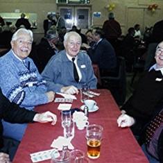Left to right: John Tingey, John Archer, Norman Shepherd, Jim Smith, Alan French.   Geoff Webb