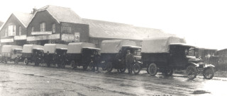 Army lorries at Creaseys Coachworks