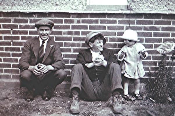 Harry 'Dizzy' Arnold (left) with Joe Freeman and Joe's daughter Mary | Geoff Webb