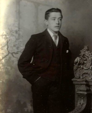 Grandfather as a very young man | Old family photograph