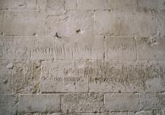 Medieval graffiti at Ashwell church