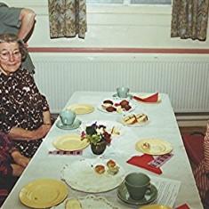 Left to right: Hilda and Elsie Austin, Ellen Smith.   Geoff Webb