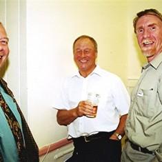 Left to right: Melvin Austin, Frank Yates, Brian Christian | Geoff Webb