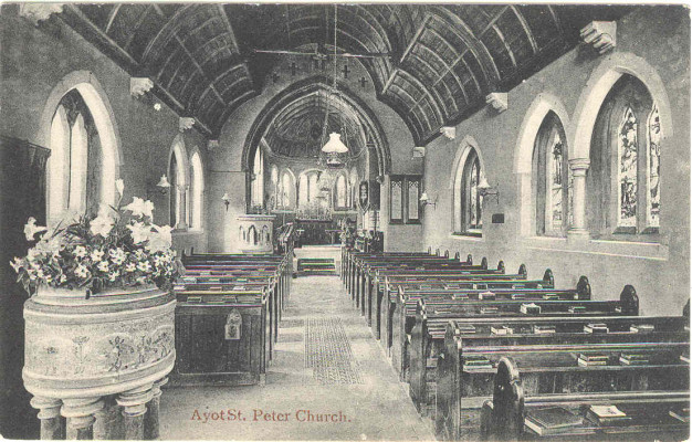 Church interior before the screen was erected in 1908