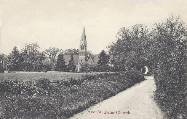 A view of the church from Ayot St Peter Road