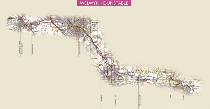 Click to enlarge this map of the route   © Stephen Wragg 2010