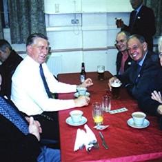 Left to right: Barrie Millington, Derek Bandy, Bob & Dennis Winch, Arthur Winch.   Geoff Webb