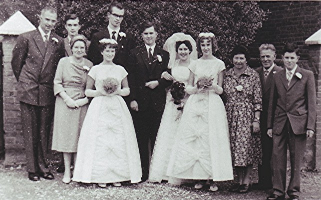 The marriage of Gordon Bartlett to Jean Catlin, Redbourn October 1960. | Geoff Webb