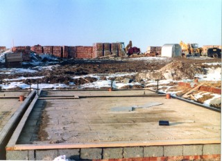 The floor base is laid, February 1983 | Susan Hall