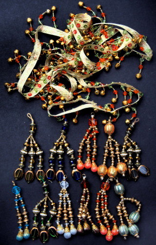 Beads for camel bags from craft shop in Ely