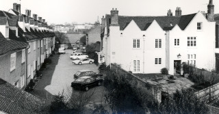 Bluecoat Yard and Place House c.1970s   Hertfordshire Archives and Local Studies