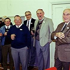 Left to right: Jock Govan, John Boden, John Hobbs, George Bennett, Richard Robertson, David Axtell, Ken Marshall | Geoff Webb