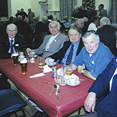 Left to right: Bob Braddon, Ken Hedges, Albert Reading, Donald Friar, Reg Stevens, John Smith.   Geoff Webb