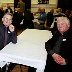 Roger May (left) and Barrie Millington | Geoff Webb
