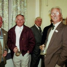 Left to right: Herbie Stevens, Pat O'Connor, 'Snowy' Nunn, Ted Orchard, Ken Marshall. | Geoff Webb