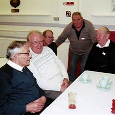 (Left to right): Darley Webb, Peter Flitton, Brian Cowland, Roy & Dennis Flitton | Geoff Webb